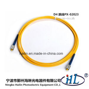 High Temperature Stability D4/Sm/PC 9/125 Fiber Optic Patch Cord pictures & photos