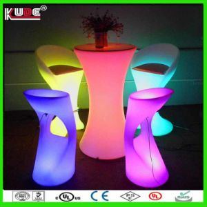 Wholesale LED Cylinder Table Rechargeable Battery Cocktail LED Table pictures & photos