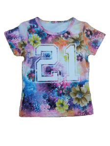 100% Cotton Fashion Printed T Shirt for Kids Sgt-010