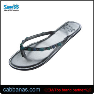1ce8242f3118d7 China Dressy Metallic Flip Flops with Turquoise for Women - China ...
