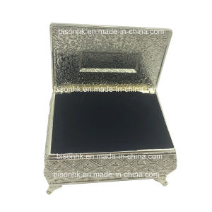 China Elegant Wedding Favors Silver Jewelry Box Custom Jewelry Box