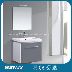 New Hot Sale MDF Bathroom Vanity with Mirror Cabinet Sw-1503 pictures & photos