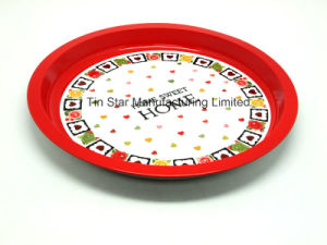 Metal Round Tray Tin Box for Food/Fruit/Candys Packing