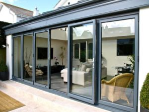 Aluminum Glass Be-Fold Door with Thermal Break Profile