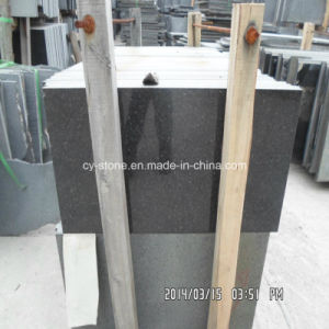 Natural Stone Black Galaxy Granite Tile for Countertops and Tiles