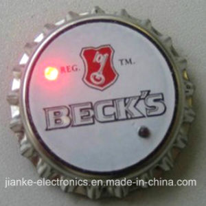 Promotion Gifts Blinking Beer Cap Button for Party Club (3569)
