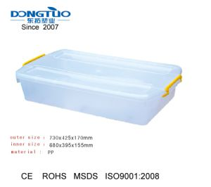 Transpa Underbed Storage Box Plastic Packaging With Wheels