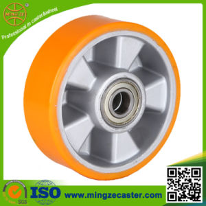 Yellow PU Aluminum Core Wheel for Industrial Caster pictures & photos