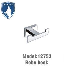 Wall Chrome Stainless Steel Round Bath Towel Coat Hooks Dual Robe Hook Hanger