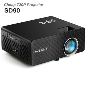 Owlenz SD90 Multimedia Portable Mini 720p Projector LED LCD 2300 Lumens for  Home Cinema Theater Movie HDMI Support Full HD 1080P PC