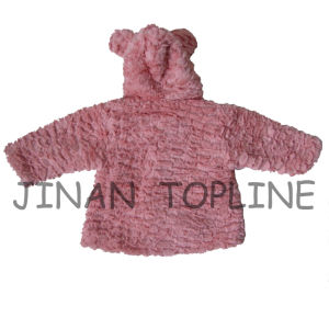 Winter-Protection Faux Fur Fake Fur Warm Thick Jacket for Baby pictures & photos