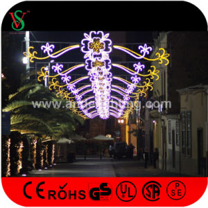 Outdoor Christmas Commercial Cross Street LED Motif Lights for Holiday