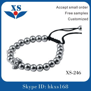 2016 Popular Stainless Steel Beaded Bracelets