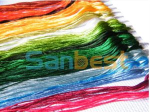 100% Cotton Cross-Stitching Embroidery Thread 30s/2*6 pictures & photos
