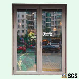 High Quality Powder Coated Double Aluminum Casement Door, Aluminium Door, Door K06009