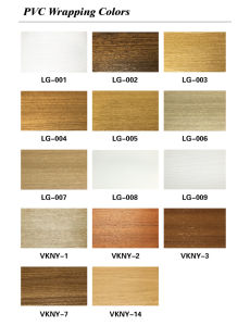 Building Material WPC PVC Film Covered Flooring Skirting (VK-T2B) pictures & photos