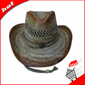 Hollow Straw Hat Cowboy Hat Printing Hat pictures & photos