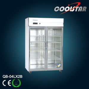 Kitchen Upright Showcase Refrigerator (QB-04L*2B) pictures & photos