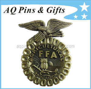 3D Ffa Metal Badge Souvenir with Antique Badge (badge-006) pictures & photos