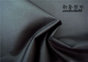 Polyester Pongee Full/Dull Dobby Fabric with PU
