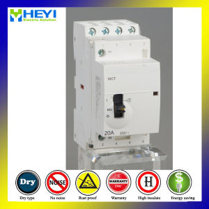 Household Electrical Contactor 20A 4pole 230V 50Hz Manual Operation pictures & photos