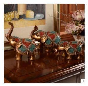 Elephant Statues Set 3PCS Little Resin Cute Animal Christmas Wedding