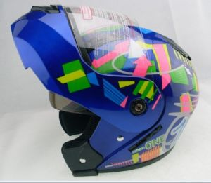filp up helmet with double visor