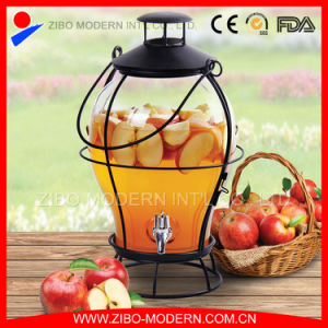 Wholesale Cheap Large Glass Beverage Dispenser with Lid and Tap pictures & photos