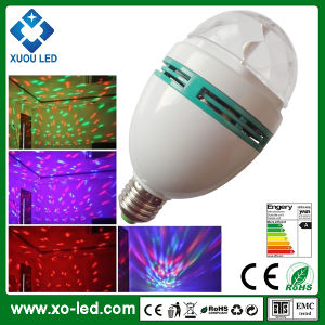 Spotlight 3W E27B22 Light Full Rotating Bulb Color LED Globe Christmas RGB Lamp 3Rjq5cSL4A