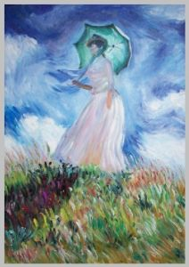 Arts Reproductions Impressionism Monet Woman With Umbrella Turned Towards The Left
