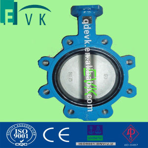 JIS 10k Cast Iron Lug Type Butterfly Valve with ABS