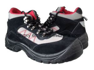Black Suede Sport Style Safety Shoes (HQ03032) pictures & photos
