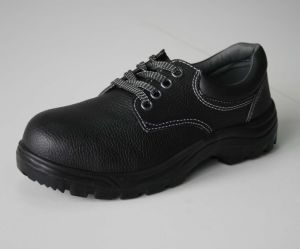 Cow Leather Black En 20345 Safety Shoes pictures & photos