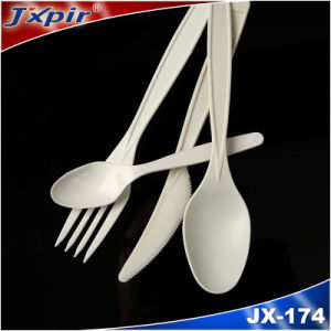 Catering Cornstarch Biodegradable Disposable Cutlery Sets for Restaurant with FDA pictures & photos
