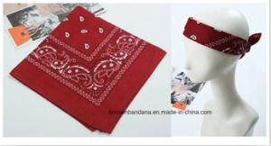 Factory Produce Custom Logo Printed Cotton Paisley Big Handkerchief