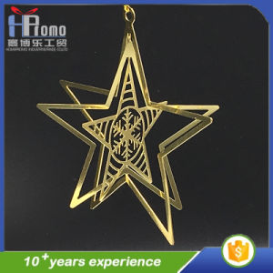 3d design metal gift promotion crafts christmas star decorations