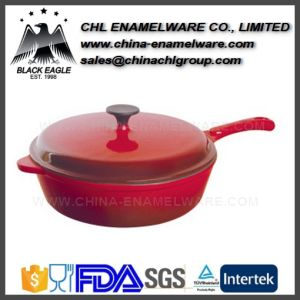 Manufacturer Non Stick Portable Iron Cast Enamel Saucepan pictures & photos