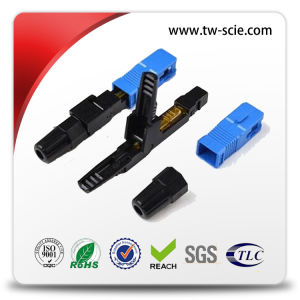 FC Circle Cable Fiber Optic Fast Connector 53mm Sm / mm Optical Cable Connector pictures & photos