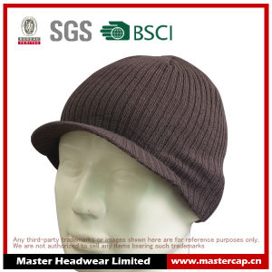 Acrylic Hat Knitted Peak Beanie for Man
