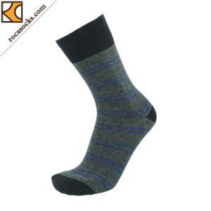 Men′s Melange Grey Cotton Dress Socks (163015SK) pictures & photos