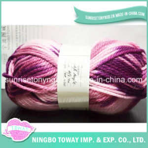 Chunky Rainbow Dyed Weaving Hand Knitting Polyester Acrylic Yarn (T008) pictures & photos