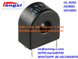 1000: 1 30A 50ohm 0.3class 7.5hole PCB Mounting Current Transformer Zmct118f pictures & photos