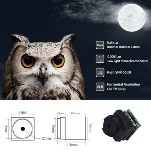 12V Ultra Small Nail Size Miniature Starlight Owl Night Vision B/W Camera Module (MB001-12) pictures & photos