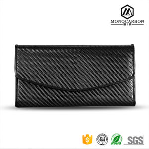 New Design Custom Comfortable Feeling Carbon Fiber Three Folds Long Handmade Wallet pictures & photos