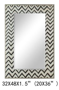 Hand Painted Home Decorative Rectangle Morden Wall Mirror