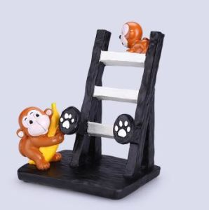 Whosale Resin Cute Monkey Cell Phone Holder for Deco pictures & photos