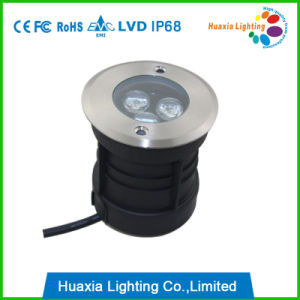 White IP68 Stainless Steel 3W 12V LED Underground Light pictures & photos
