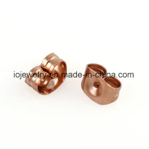 Surgical Steel Jewelry Rose Gold Earrings Butterfly pictures & photos