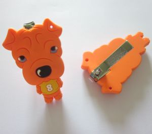 Lovely Cute Dog Shape Cartoon Nail Clipper with Silicon Cover pictures & photos