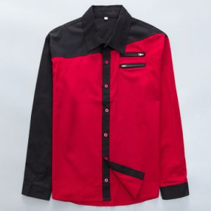 Western Style Cotton Shirt for Men Club Clothing Contrast Color pictures & photos